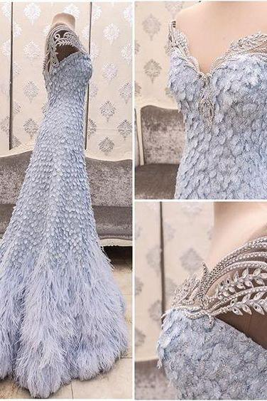 New Arrival Prom Dress,Modest Prom Dress,Flower Wedding Dress,blue Wedding Dress kb20181825